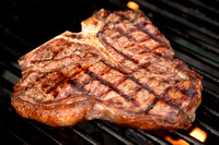 T-Bone Steak on the Grill